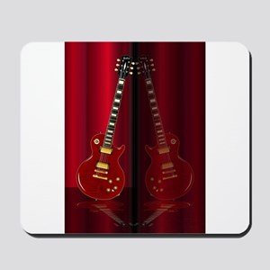Red Guitar Reflections Mousepad