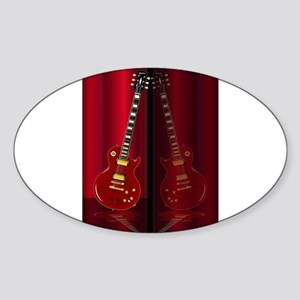 Red Guitar Reflections Sticker