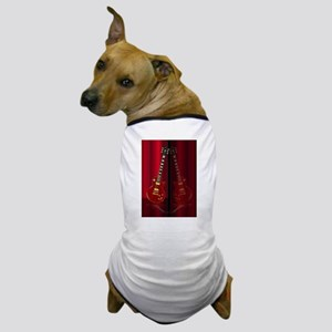 Red Guitar Reflections Dog T-Shirt