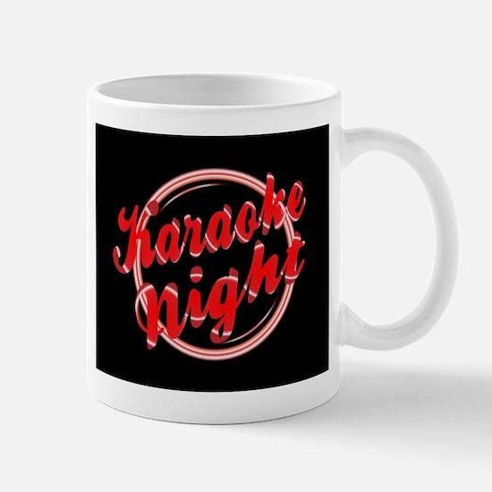 Karaoke Night Florescent Light Mugs