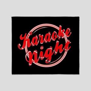 Karaoke Night Florescent Light Throw Blanket