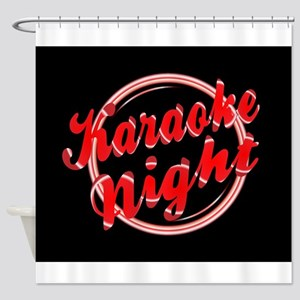 Karaoke Night Florescent Light Shower Curtain