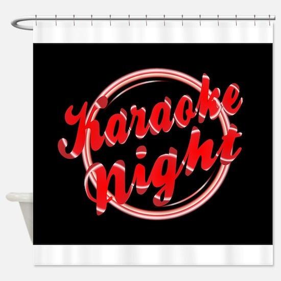 Karaoke Night Florescent Light Shower Curtain