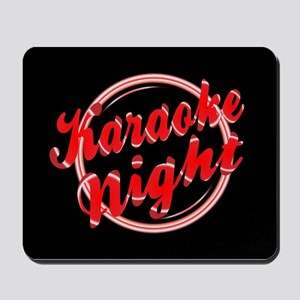 Karaoke Night Florescent Light Mousepad