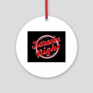 Karaoke Night Florescent Light Round Ornament