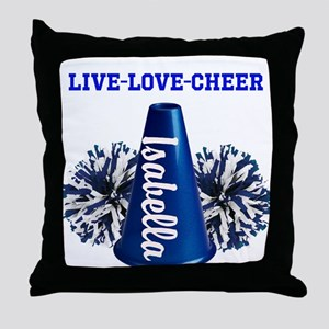 cheerleader personalize Throw Pillow