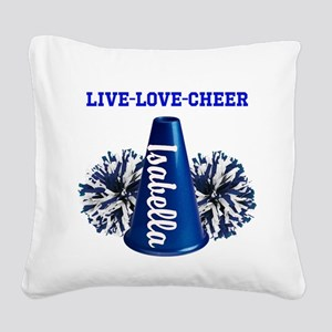 cheerleader personalize Square Canvas Pillow