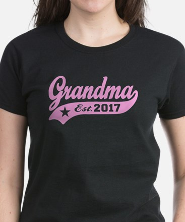 Grandma Est. 2017 Women's Dark T-Shirt