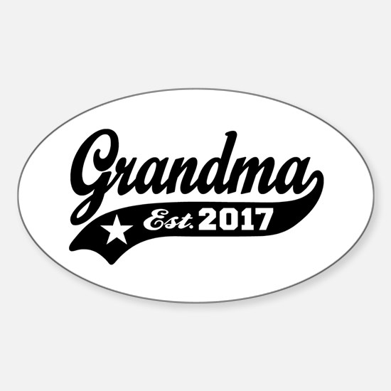 Grandma Est. 2017 Sticker (Oval)