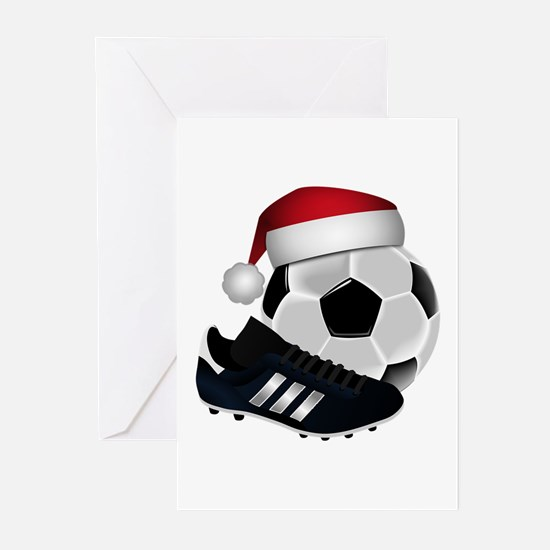Christmas Soccer Greeting Cards