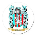 Walkling Round Car Magnet