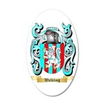 Walkling 35x21 Oval Wall Decal