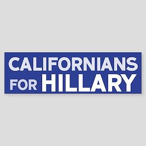 Californians for Hillary Bumper Sticker