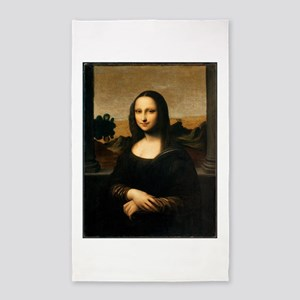 Mona Lisa by Leonardo DaVinci Area Rug