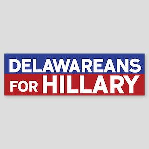 Delawareans for Hillary Bumper Sticker