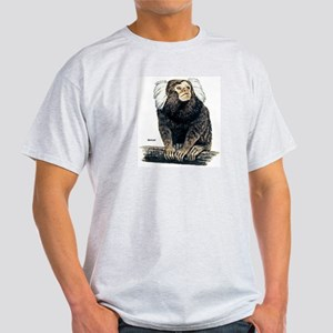 Marmoset Monkey (Front) Ash Grey T-Shirt