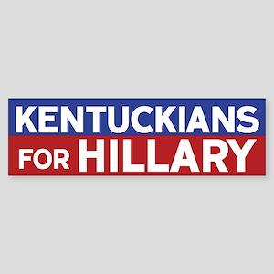 Kentuckians for Hillary Bumper Sticker