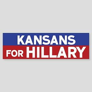 Kansans for Hillary Bumper Sticker