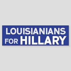 Lousianians for Hillary Bumper Sticker
