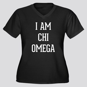 I Am Chi Ome Women's Plus Size V-Neck Dark T-Shirt