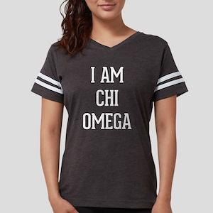 I Am Chi Omega Womens Football Shirt