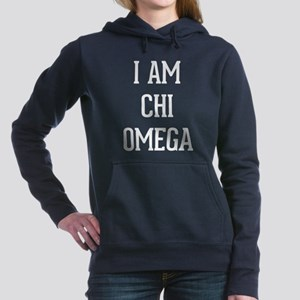 I Am Chi Omega Women's Hooded Sweatshirt
