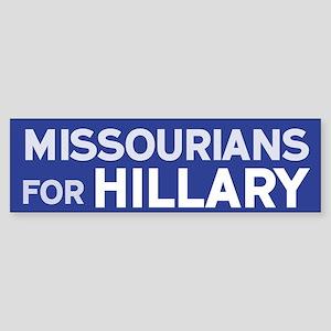 Missourians for Hillary Bumper Sticker