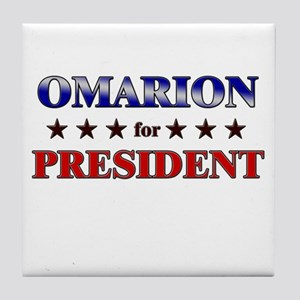 OMARION for president Tile Coaster