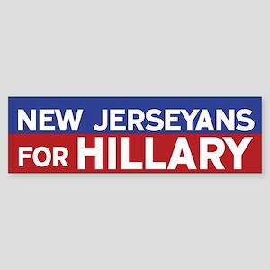 New Jerseyans for Hillary Bumper Sticker
