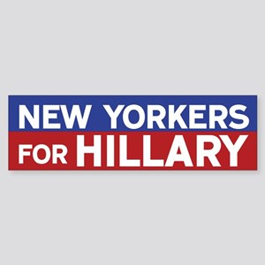 New Yorkers for Hillary Bumper Sticker