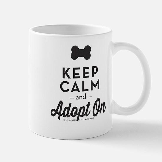 Keep Calm and Adopt On Mugs
