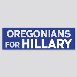 Oregonians for Hillary Bumper Sticker
