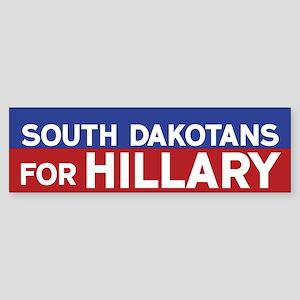 South Dakotans for Hillary Bumper Sticker