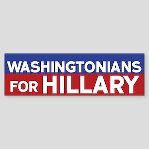 Washingtonians for Hillary Bumper Sticker