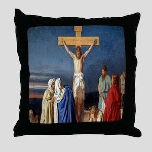 The Crucifixion of Jesus Throw Pillow