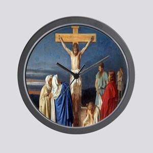 The Crucifixion of Jesus Wall Clock