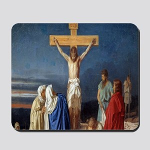 The Crucifixion of Jesus Mousepad