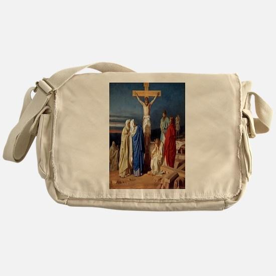 The Crucifixion of Jesus Messenger Bag