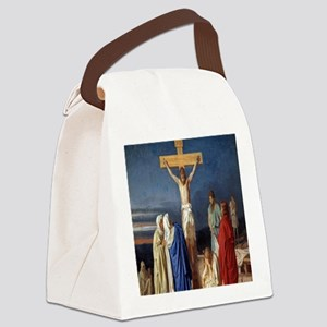 The Crucifixion of Jesus Canvas Lunch Bag