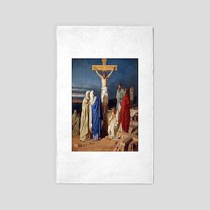 The Crucifixion of Jesus Area Rug