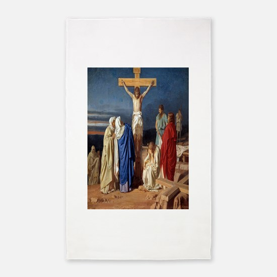 The Crucifixion of Jesus Area Rug