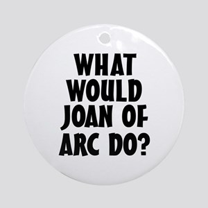 Joan of Arc Round Ornament
