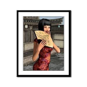 Asian Woman Framed Panel Print