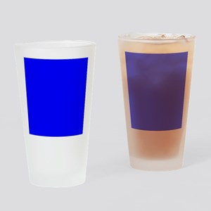 Simply Blue Solid Color Drinking Glass