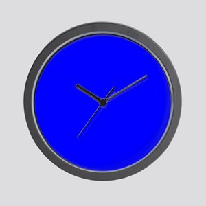 Simply Blue Solid Color Wall Clock