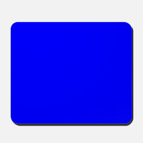Simply Blue Solid Color Mousepad