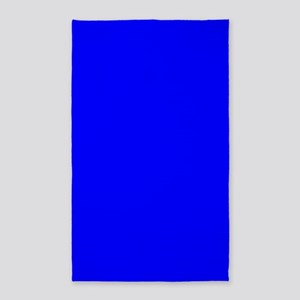 Simply Blue Solid Color Area Rug