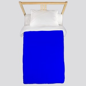 Simply Blue Solid Color Twin Duvet