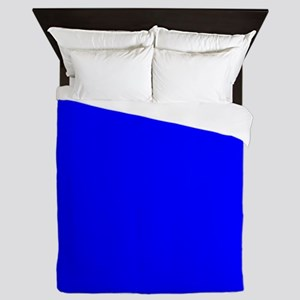 Simply Blue Solid Color Queen Duvet