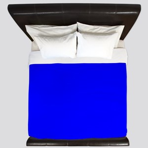 Simply Blue Solid Color King Duvet
